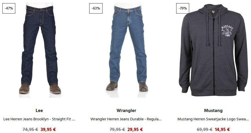 Bis  80% auf Restposten bei Jeans Direct + 33% Gutschein & keine VSK