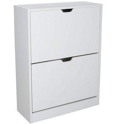 Schuhschrank / Schuhkipper in Weiß mit 1 oder 2 Türen ab 27,29€ (statt 39€)