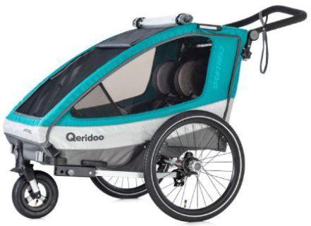 Qeridoo Kinderfahrradanhänger Sportrex 2 (2019) für 295,42€ (statt 334€)