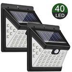 Abgelaufen! Doppelpack: LED Solarleuchte für Außen mit 40 LEDs für 11,39€ – Prime