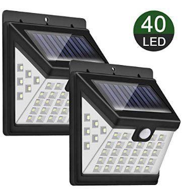 Doppelpack: LED Solarleuchte für Außen mit 40 LEDs für 11,39€   Prime