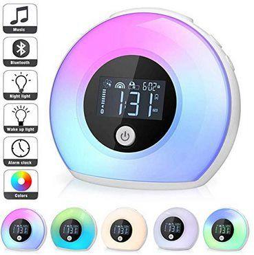LED Nachtlampe & Bluetooth Wecker mit 5 Übergängen & 4 Helligkeitstufen für 17,49€ (statt 35€)