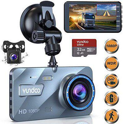 YUNDOO 1080p Dashcam mit 4 Zoll Display & 170° Weitwinkel inkl. Kamera für 29,99€ (statt 50€)