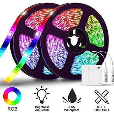 2x 2m LED Streifen mit je 30 SMD5050 LEDs für 12,44€   Prime