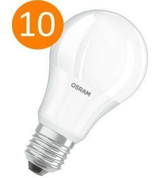 10er Pack: Osram LED VALUE A60 E27 Glühbirne mit 8,5 Watt für 17,99€ (statt 21€)