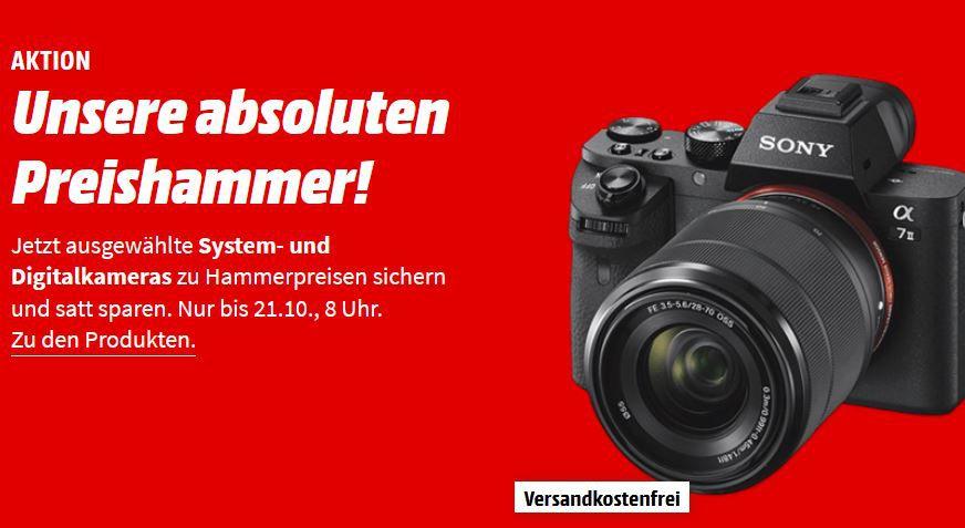 🔥 Sony Alpha 7 II   24MP Digi Cam Kit mit Objektiv 28 70 mm für 999€ (statt 1.178€) + 150€ Geschenk Coupon