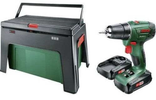 Bosch PSR 1800 LI 2 Akku Bohrschrauber mit 2 x 1,5 Ah inkl. Workbox für 94€ (statt 119€)