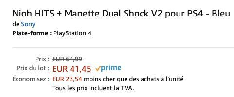 Sony DualShock 4 V2 Controller + Nioh (PS4) für 45,51€ (statt 76€)