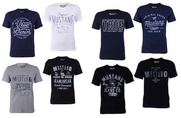 Schnell! 8er Pack Mustang Herren T Shirt mit Frontprint für 39,80€ (statt 80€)   nur 4,98€ je Shirt