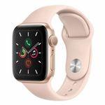 Apple Watch Series 5 GPS 40mm in Gold mit Sandrosa-Sportarmand für 399€ (statt 422€)