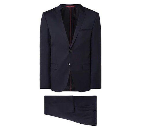 Hugo Arti/hesten193 Extra Slim Fit Anzug aus reiner Schurwolle für 296,56€ (statt 449€)