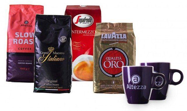 4kg Probierpaket Kaffeebohnen + 2 Kaffeetassen für 49,95€