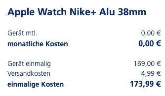 Schnell? Apple Watch Nike+ Series 3 mit 38mm für 173,99€ oder 42mm für 203,99€