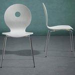 """2er Pack Bessagi Holz-Stuhl """"Nahia"""" mit Metallbeinen für 17€ (statt 34€)"""
