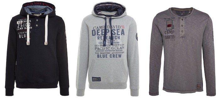 Camp David Sweatshirts und Hoodies für je 40€ (statt 70€)