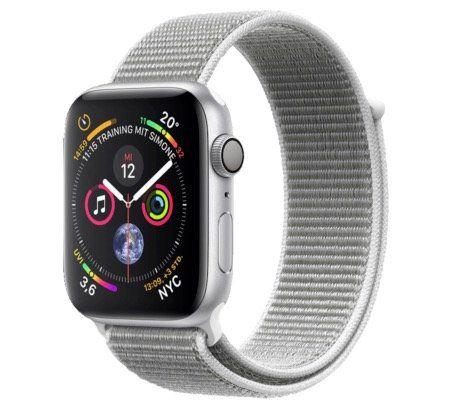 Apple Watch Series 4 GPS in 40mm Silber mit Sport Loop ab 339,48€ (statt 369€)