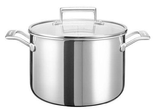 KitchenAid Koch  und Suppentopf (KC2T80SCST) 24 cm mit Deckel für 65,90€ (statt 95€)