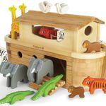 EverEarth Große Arche Noah + 14 Tiere (aus Holz und Bambus) für 85,49€ (statt 115€) + 5-fache Babypunkte (4,74€)
