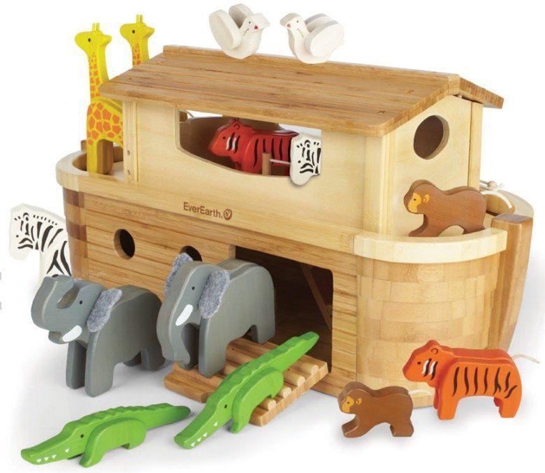 EverEarth Große Arche Noah + 14 Tiere (aus Holz und Bambus) für 85,49€ (statt 115€) + 5 fache Babypunkte (4,74€)