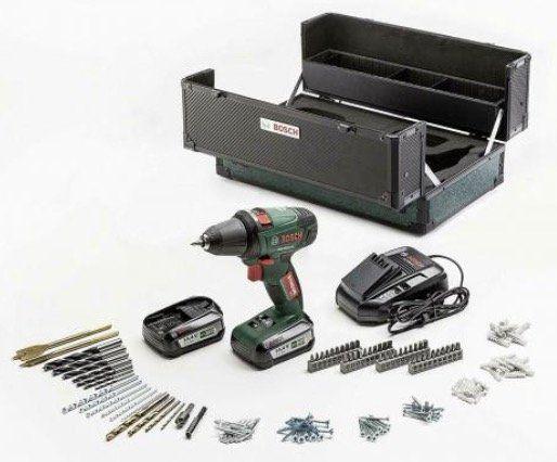 Bosch PSR 14,4 LI Akku Bohrschrauber (2 x 2,5Ah + Ladegerät) im Werkzeugkoffer für 89€(statt 135€)