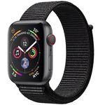 Ausverkauft! Apple Watch Series 4 GPS + Cellular 44mm in Space Grau mit Nylon-Armband für 421,63€ (statt 499€)