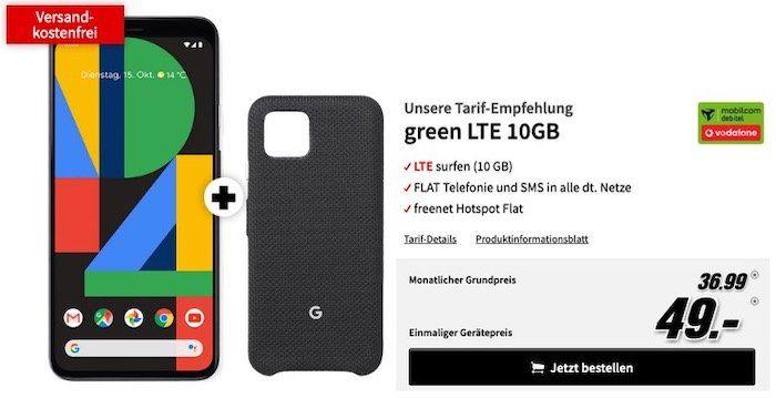 Neu! Google Pixel 4 für 49€ oder Pixel 4 XL für 149€ + Vodafone Flat mit 10GB LTE für 36,99€ mtl.