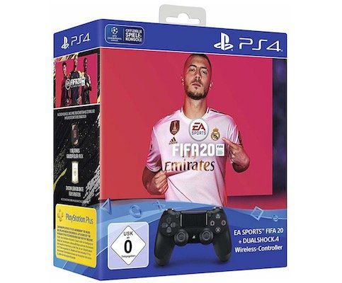 Sony PlayStation 4 DualShock Wireless Controller inkl. FIFA 20 für 59,99€ (statt 66€)