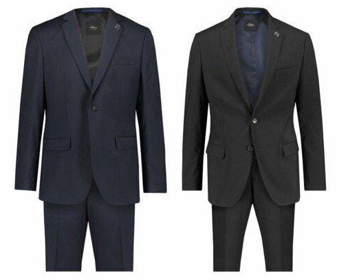 s.Oliver Herren Anzug in Regular Fit 2 teilig für 99,90€ (statt 130€)