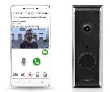 Smartwares DIC 23112 Video Türsprechanlage für 95,90€ (statt 128€)