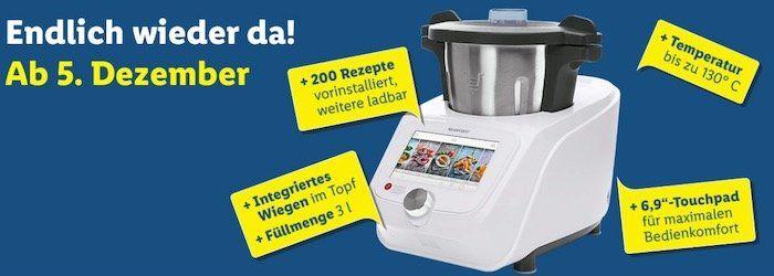 Monsieur Cuisine Connect Küchenmaschine für 349€   endlich wieder lieferbar!