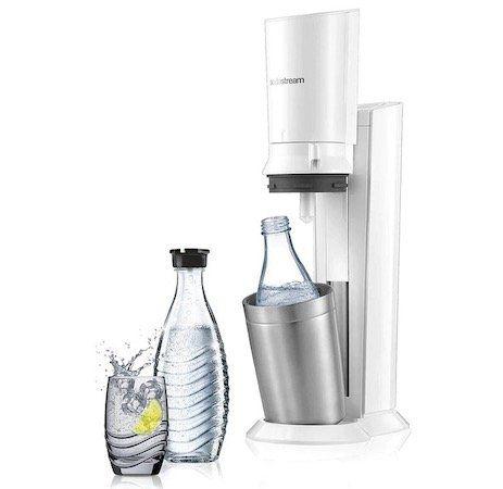 Wieder da! SodaStream Crystal 2.0 Wassersprudler in Weiß mit 2 Glaskaraffen für 89,99€ (statt 112€)