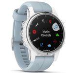 Garmin Fenix 5S Plus GPS-Multisport Smartwatch mit Seafoam Armband für 399€(statt 512€)
