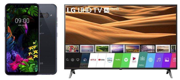 LG G8s ThinQ + 43 LG UHD Fernseher für 5,99€ + o2 Flat mit 10GB LTE für 34,99€ mtl.