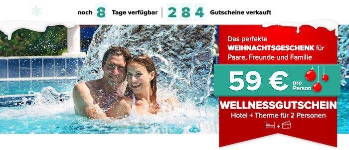 Last Minute Thermen Gutschein inkl. Premium Hotel mit Frühstück für 59€ p.P. + 20€ Gutschein