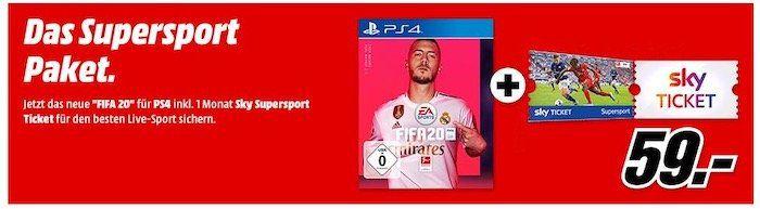 FIFA20 Abgebote bei MediaMarkt   PS4 Bundles mit 1 Jahr PS Plus + Sky Tickets mit FIFA20