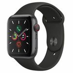 Apple Watch Series 5 GPS + LTE 44mm in Spacegrau mit Aluminiumgehäuse für 519,90€ (statt 548€)
