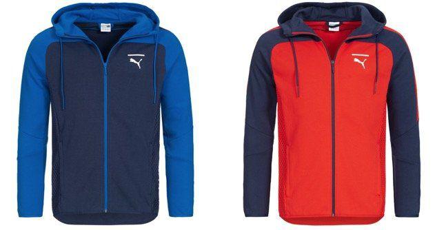 Puma Pace Net Colorblock Full Zip Herren Sweatjacke in Blau oder Rot für 29,94€ (statt 61€)
