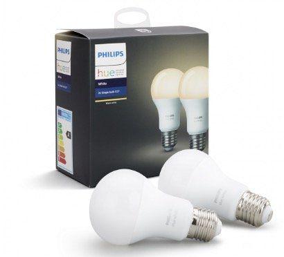 2er Pack Philips Hue White E27 9,5W für 19,90€(statt 25€)