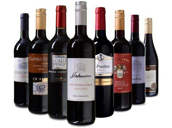 Weinprobier Paket Rund um die Welt (8 Flaschen) für 39,99€ (statt 70€)