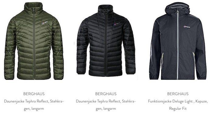 Berghaus Sale bei Brand4friends   z.B. Funktionsjacke Deluge Pro für 49,99€ (statt 114€)