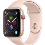 Apple Watch Series 4 (GPS + Cellular) 44mm Aluminium in Rosa mit Sportband für 412,93€ (statt 483€)