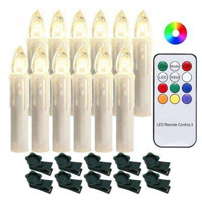 20 oder 40 LED Weihnachtskerzen   dimmbar mit Flammeneffekt & Fernbedienung ab 13,99€ (statt 20€)