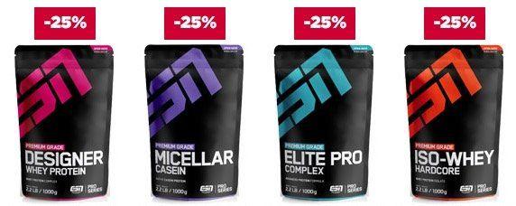 25% Rabatt auf 10 ESN Topseller Produkte oder 15% auf Sportswear