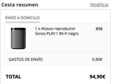 Sonos Play:1 für 94,90€ (statt 170€)