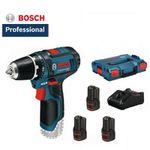 Bosch GSR 12V-15 Akku Bohrschrauber + 3 Akkus (je 2Ah) und Box für 113,89€ (statt 144€)