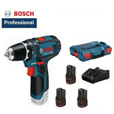 Bosch GSR 12V 15 Akku Bohrschrauber + 3 Akkus (je 2Ah) und Box für 113,89€ (statt 144€)