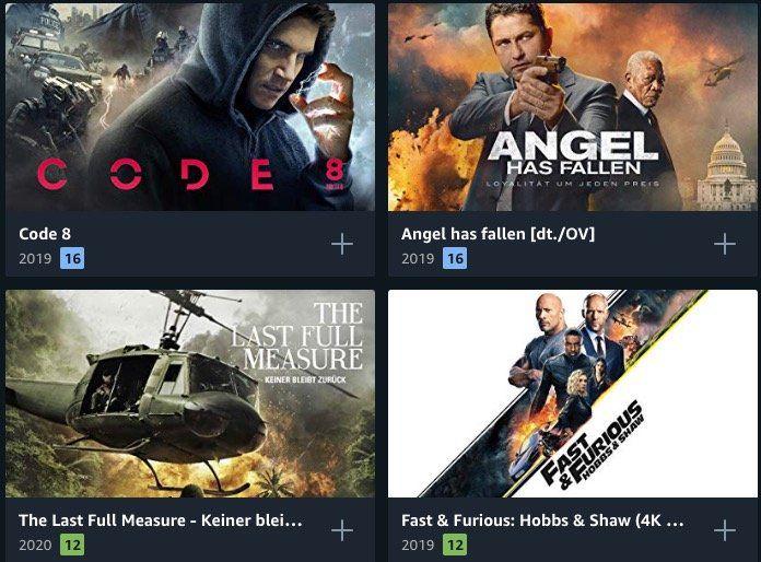 Prime Video: 13 Filme in HD für je 0,99€leihen