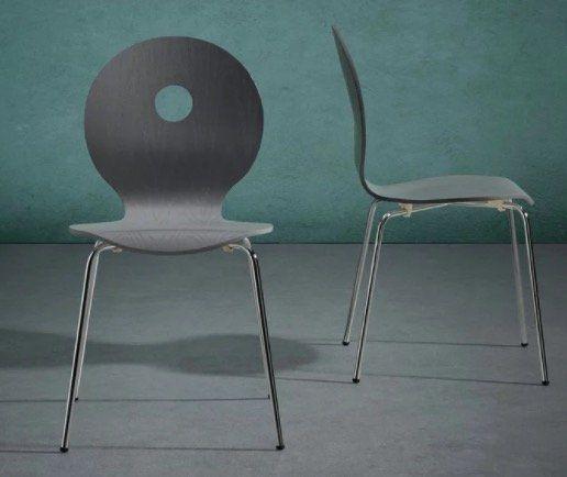 Bessagi Holz Stuhl Nahia mit Metallbeinen für 9,95€ (statt 20€)