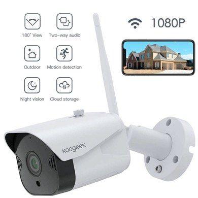 Koogeek IP Überwachungskamera 1080P mit Weitwinkel, WLAN, Echo, Alexa etc. und IR Nachtsicht für 35,99€ (statt 46€)