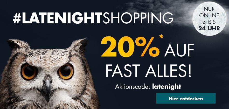 Galeria Late Night mit 20% Rabatt auf fast Alles   bis Mitternacht z.B. Wellensteyn Herren Jacke Leuchtfeuer für 207,96€ (statt 260€)
